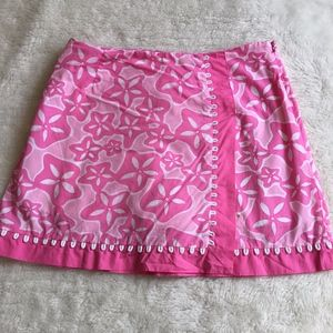 Lilly Pulitzer Starfish Pink Skirt Size 2